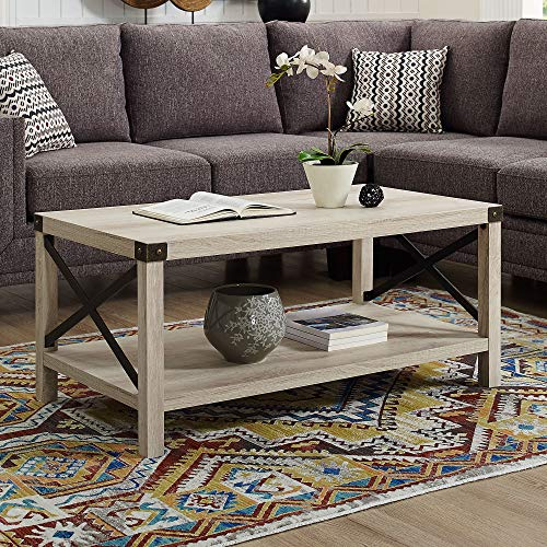 Small Coffee Table Oak - WE Furniture AZF40MXCTWO Coffee Table, White Oak
