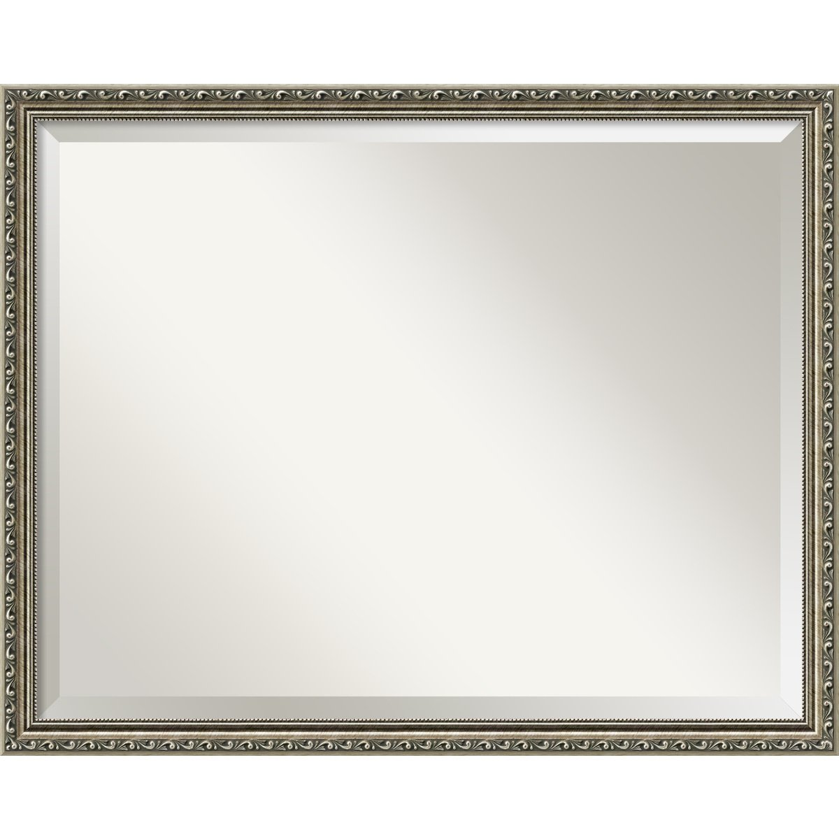 Amazon.com: Wall Mirror Large, Parisian Silver Wood: Outer Size 30 x ...
