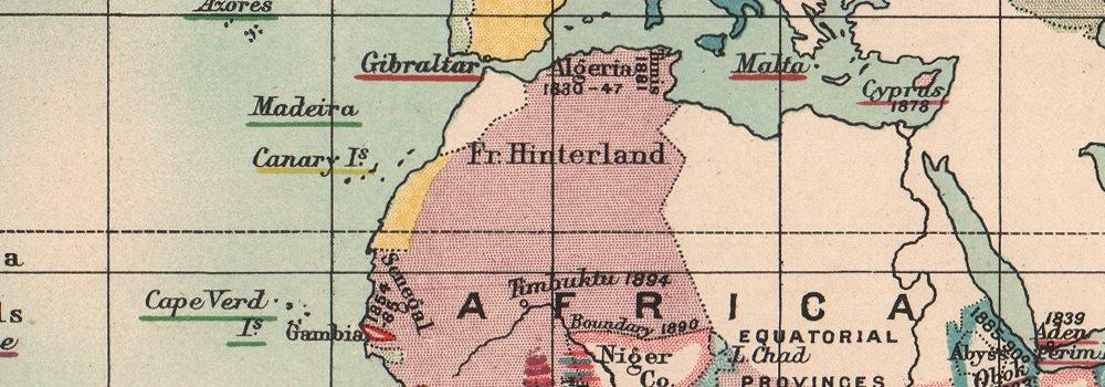 Europea colonias/dependencias. Mundo de 1815 - 1897. Siglo XIX - 1902 - mapa antiguo - diseño de mapa antiguo mapa - diseño - vintage Mapas de Europa: ...