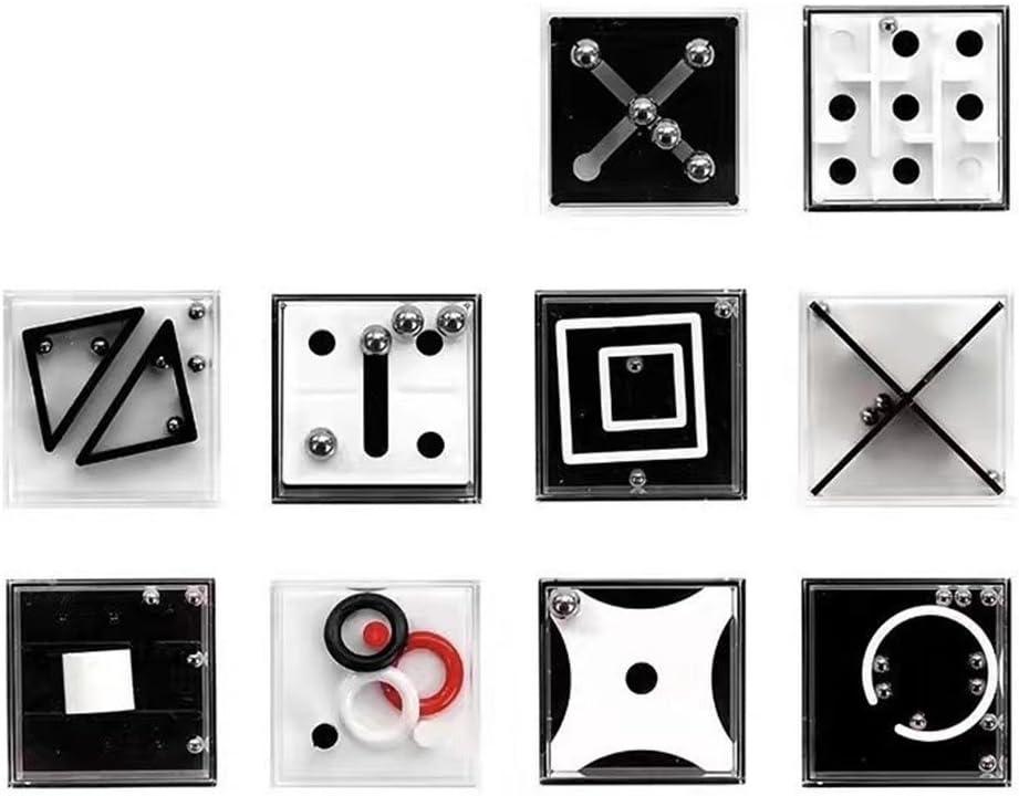 Zantec Juguetes Creativos, 10 unids Balance Cajas Puzzle Laberinto Juguete Adolescente Adulto Reducir la Presión Desarrollo Intelectual Decoración de Regalo de Navidad
