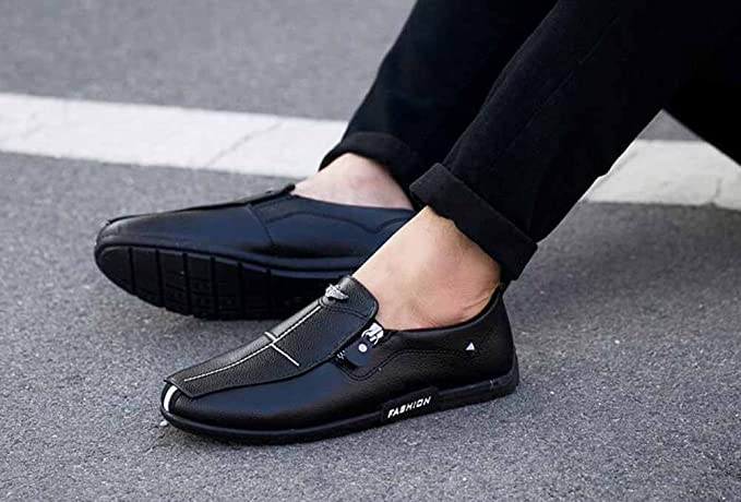 Men Casual Loafer Shoes Autumn New Youth Flat Shoes Simple Light Driving Shoes