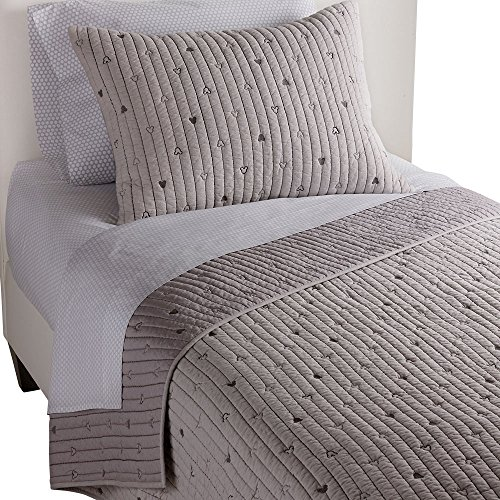 Ethan Allen | Disney  Mickey Mouse How Cool Quilted Sham, Mouse Grey, Standard ()