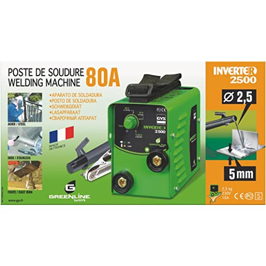 GYS Inverter 2500 - Kit de soldadura (2300W, 230V), color: verde: Amazon.es: Industria, empresas y ciencia