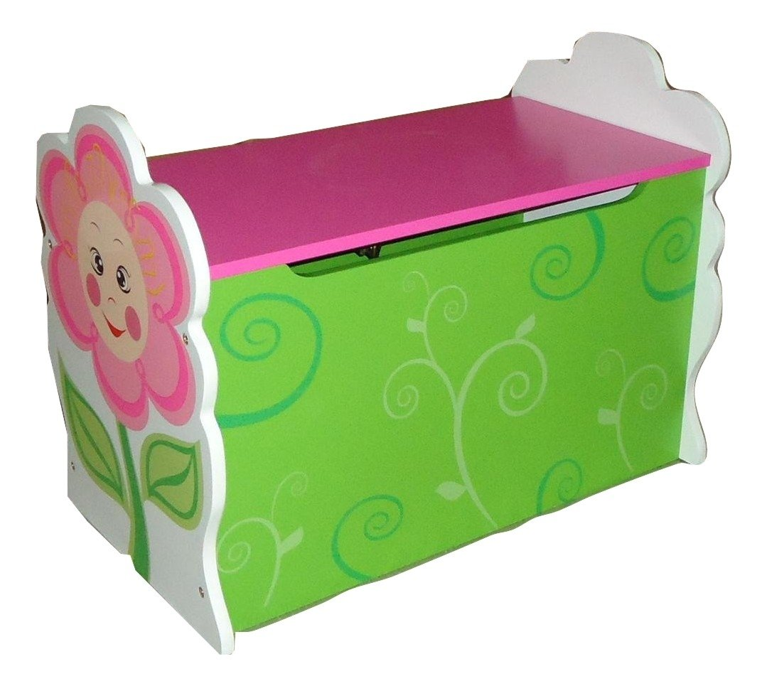 GIRLS DAISY FLOWER THEMED PINK KIDS CHILDRENS WOODEN TOY BOX BENCH STORAGE  BOX: Amazon.co.uk: Kitchen U0026 Home