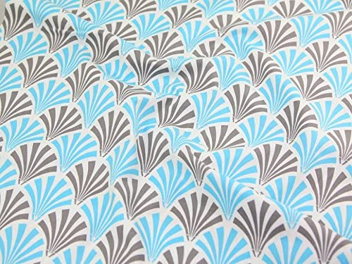 Amazon Com Camelot Fabrics The Design Studio Deco Fans Quilting Fabric Blue Grey Per Fat Quarter