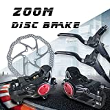 Disc Brake Sets, ZOOM Mountain Bicycle Bike Mechanical Disc Brake rotor Kit Front and Rear 160mm