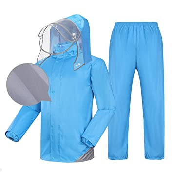 LAXF-Traje Impermeable Hombre Traje de Lluvia para Hombres ...