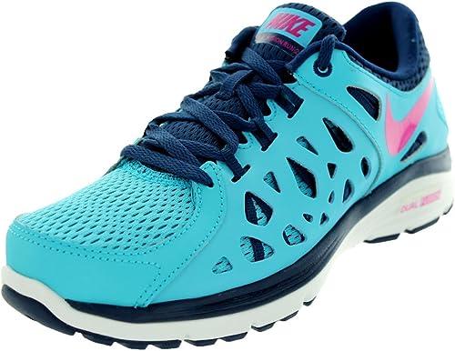 Nike Dual Fusion Run 2 Chaussures de Running pour Femme BleuRose