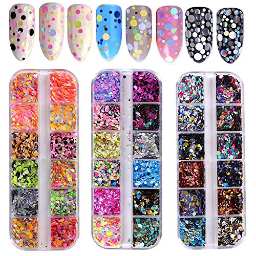36 Color Nail Sequins