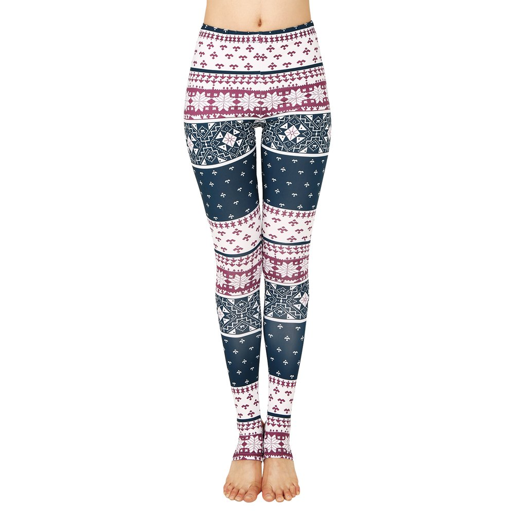 Romacci Women's Graphic Print Leggings Yoga Workout Stretchy Fitness Tights Pants