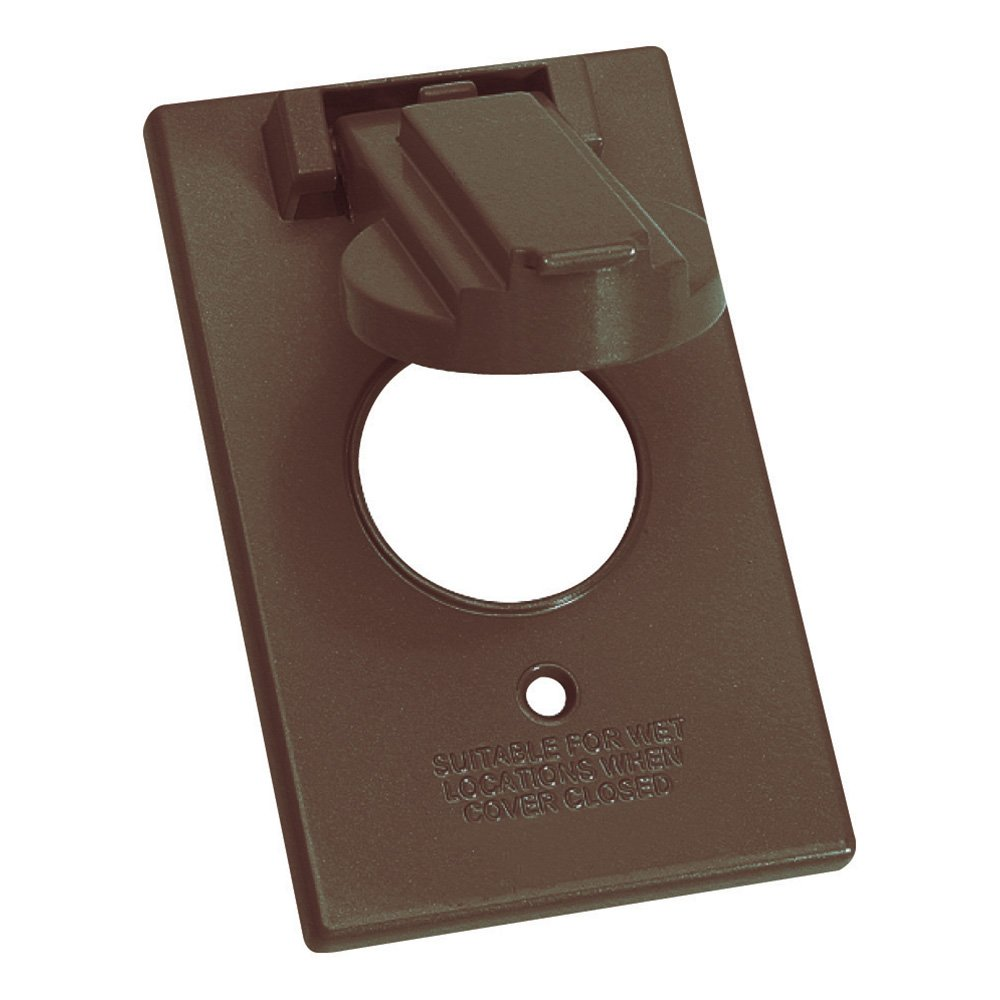 Sigma Electric 14224BR 1-Gang Vertical Round Switch Cover, Bronze