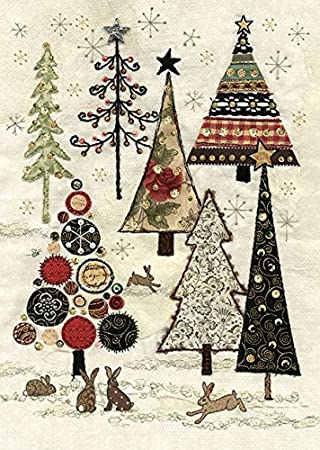Artistic Christmas Cards Ba0045 Rabbit Woods Pack Of 5 Cards And