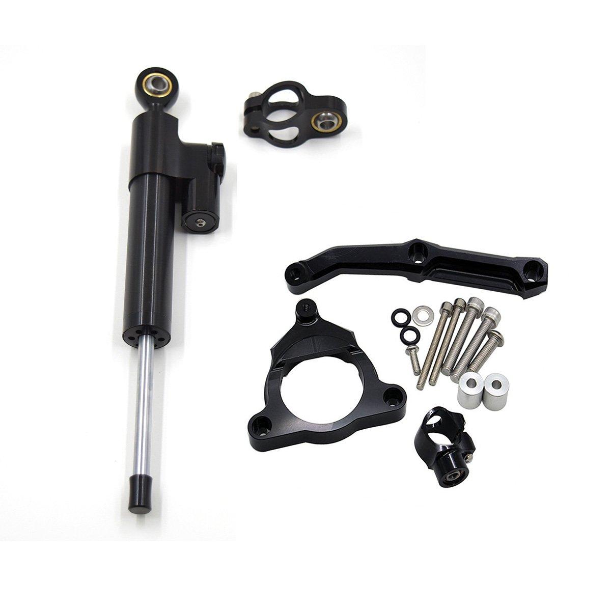 Stabilizzatori e Ammortizzatori di sterzo il kit di montaggio set per Kawasaki Z1000 2003-2009 Z750 2003-2012 Z1000 Ammortizzatori Z750 Ammortizzatori Fullibars