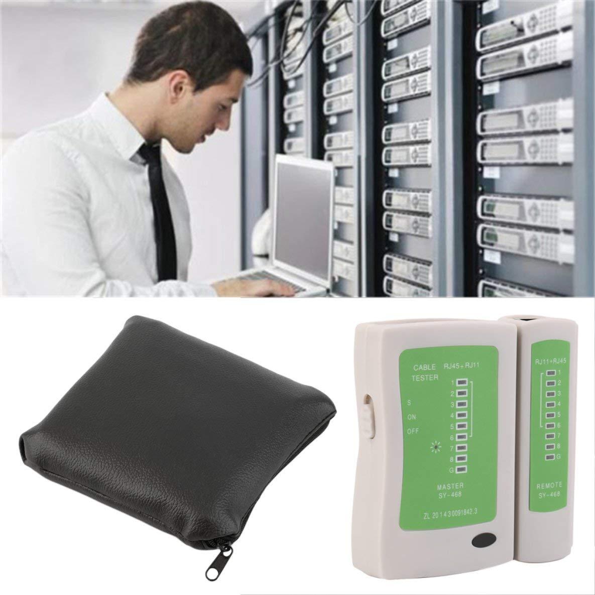 Noradtjcca RJ45 RJ11 RJ12 CAT5 UTP Network LAN USB Cable Tester Detector Remote Test Tools Networking Tool