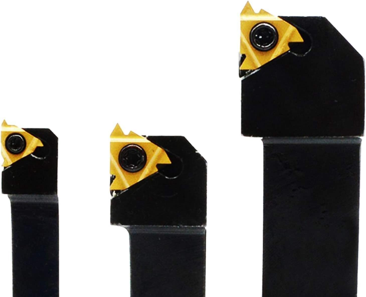 YUQIYU CNC Lathe Carbide Indexable Threading Turning Tool Holder with Indexable Insert Blade Kits