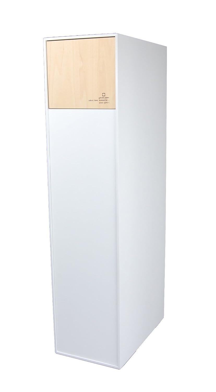 日本製 ヤマト工芸 DOORS W 30L ドアーズ ダブル フロントオープン ゴミ箱 ごみ箱 木製 おしゃれ (ホワイト) B01LXE8NUKホワイト