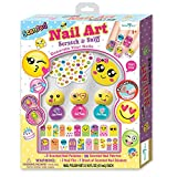 SmitCo LLC Nail Polish For Girls - Non Toxic Emoji Themed Nail Art Kit Or Spa Set For Kids - Includes Scented, Stickers, Peel-Off Nail Polish, Nail Patches, A File and Stickies