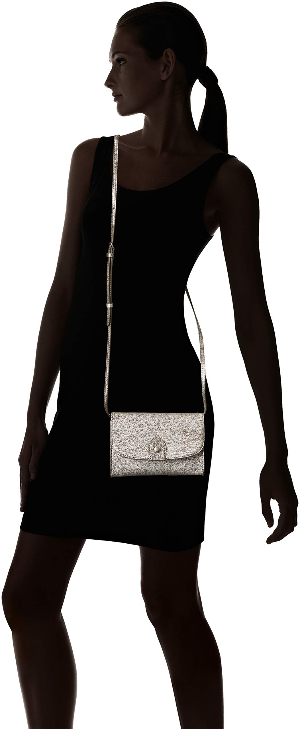 FRYE Melissa Wallet Crossbody Clutch Leather Bag, silver by FRYE (Image #7)