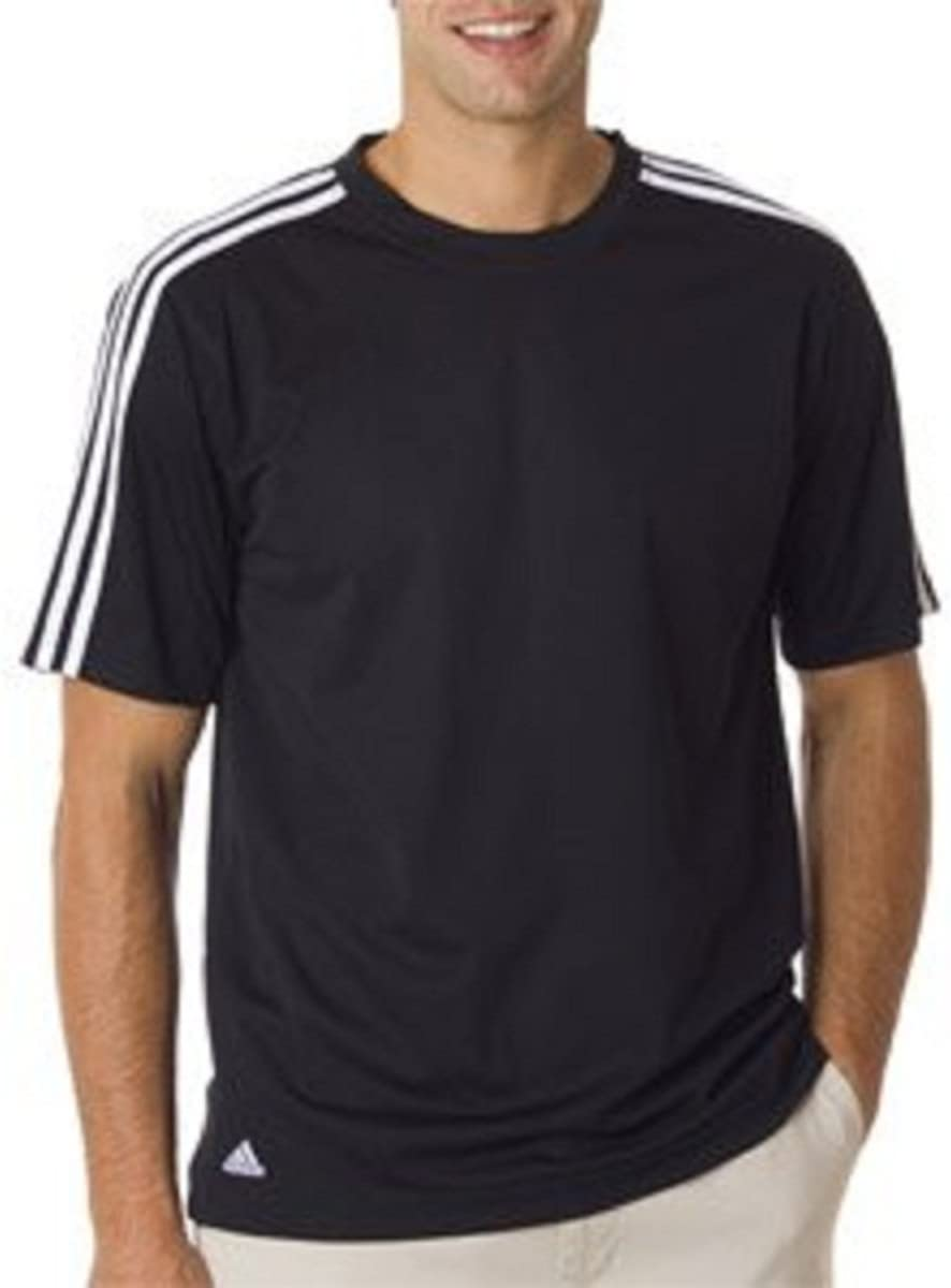 adidas Golf Climalite 3 rayas camiseta – Azul marino/blanco ...
