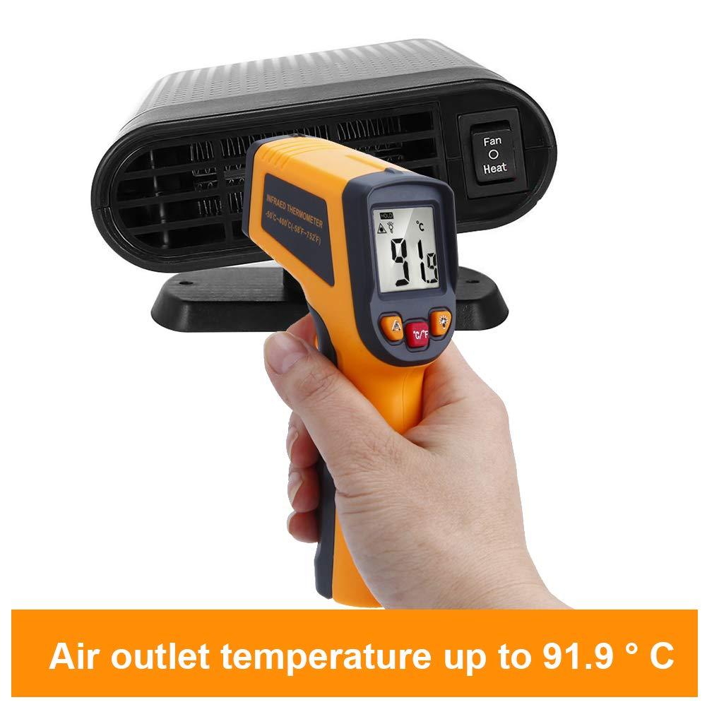 K/ühlventilator luftreinigend Auto-Heizungsentfroster Entfroster mit klappbarem Griff schnellheizend schnelle Erw/ärmung 12 V Rot-4 60 Sekunden 150 W Auftauen