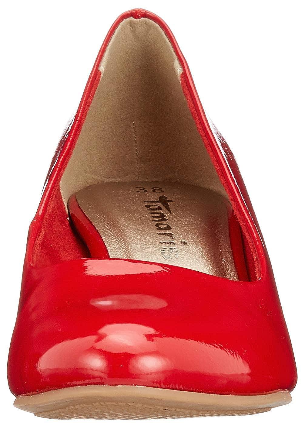 Tamaris 22493, Escarpins Femme, Rouge (Chili Patent 520), 38