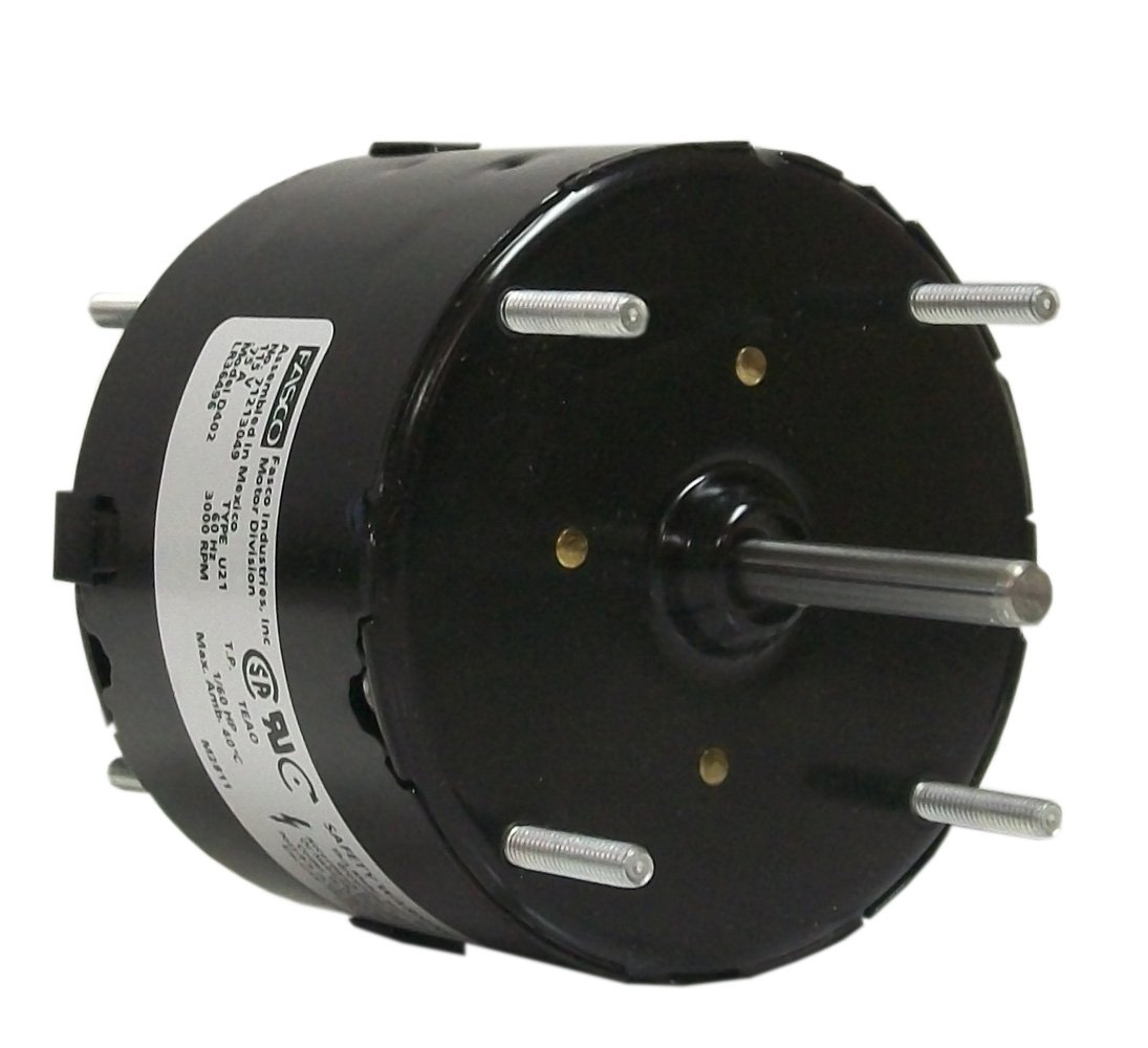 Fasco D402 3.3-Inch General Purpose Motor, 1/60 HP, 115 Volts, 3000 RPM, 1 Speed.75 Amps, Totally Enclosed, CWSE Rotation, Sleeve Bearing