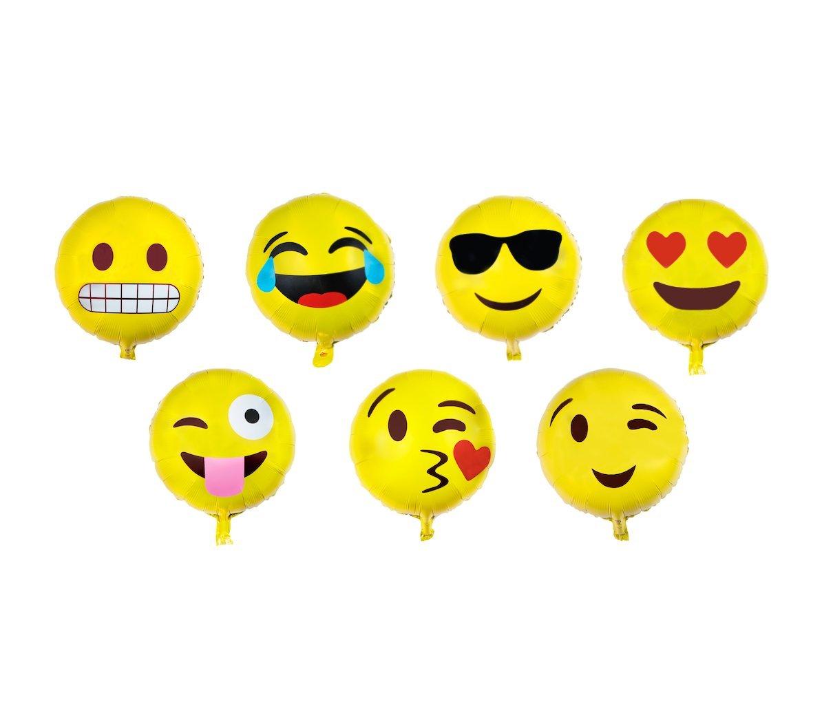 Emoji Design Latex Balloons Pack of 8
