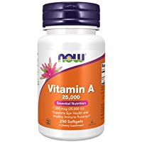 NOW Supplements, Vitamin A (Fish Liver Oil) 25,000 IU, Essential Nutrition, 250...