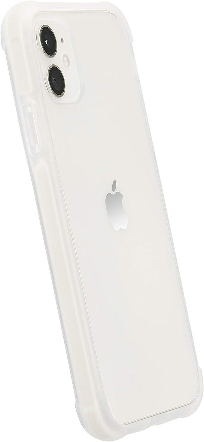 Amazon Basics Coque pour iPhone 11 en TPU TPE PC (Blanc), coque transparente protectrice pour téléphone portable, anti-rayures