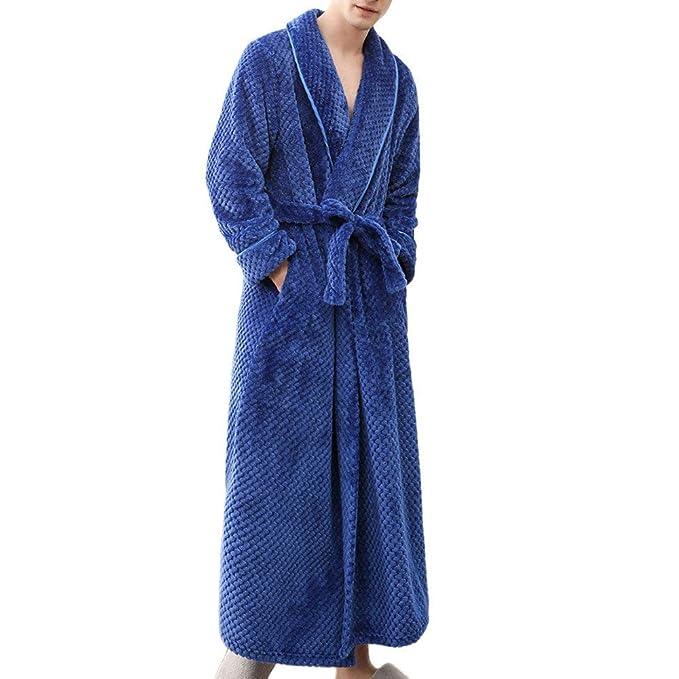POLP Albornoz Hombre Mujer Parejas Unisex Casa Albornoz Mujer Ducha Bata de Baño Ropa de baño