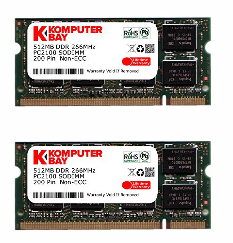 Komputerbay 1GB (512MBx2) DDR SODIMM (200 pin) 266Mhz DDR266 PC2100 FOR Compaq Presario R3306EA 1 GB ()