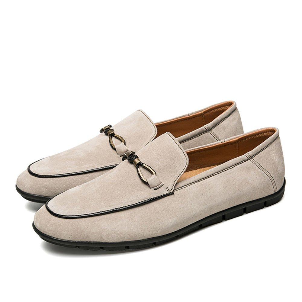 Zapatos Casuales de Verano para Hombres Zapatos de Cuero Respirables cómodos y Suaves 42 2/3 EU Albaricoque
