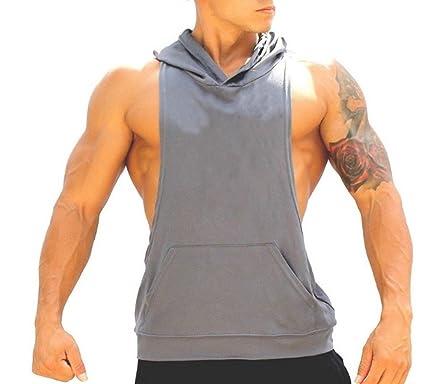 765b4c219cdf0 Amazon.com  Q Y Men s Muscle Cut Bodybuilding Stringer Hoodie Gym Tank Top  Racerback Hoodie Tee  Clothing
