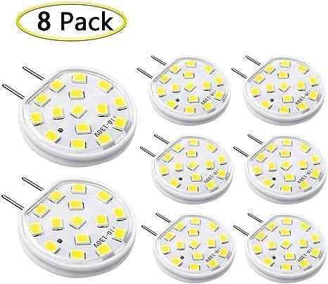 Amazon.com: Bombilla LED regulable G8, AC110-130 V, base de ...