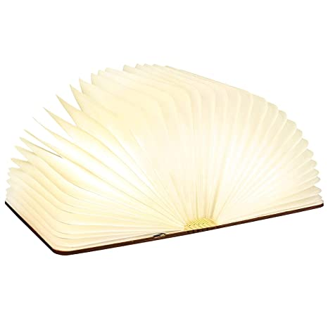 Pujuas Livre Lumineux Lampe Livre Portable 7 Couleurs Autonomie 6 Heure 9 12 2 5cm V6