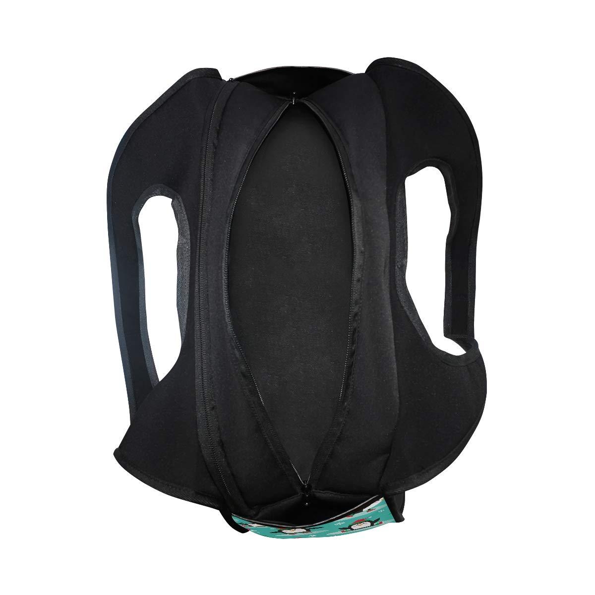 Gym Bag Sports Holdall Penguins On Skates Canvas Shoulder Bag Overnight Travel Bag for Men and Women