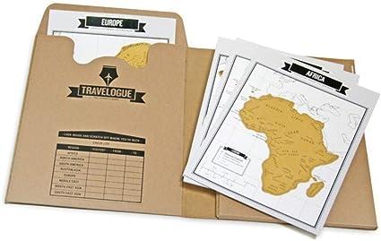 Tumao Diario de viaje y mini Mapa del Mundo para rascar (8 mapas y 64 páginas): Amazon.es: Oficina y papelería