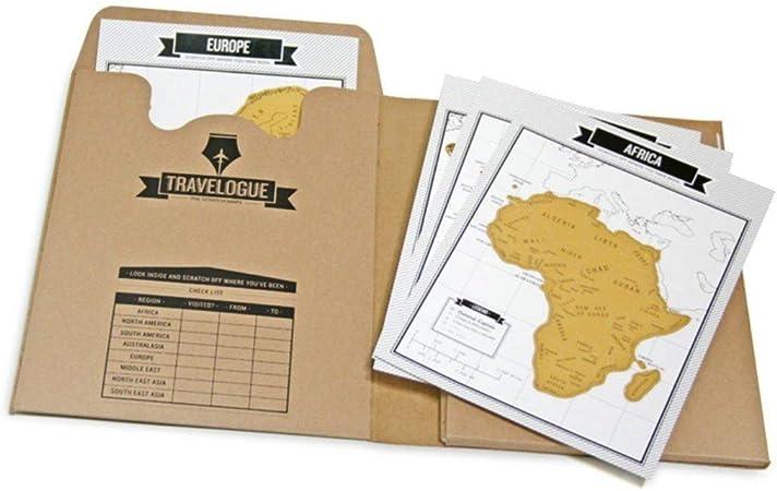 Tumao Diario de viaje y mini Mapa del Mundo para rascar (8 mapas y ...