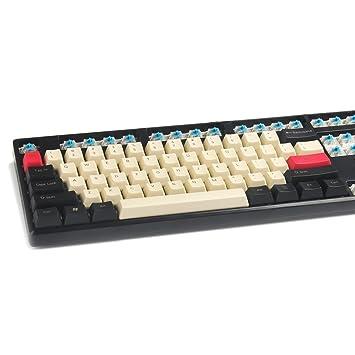 YMDK 108 87 61 Estilo Vintage PBT OEM Perfil Keycap para 104 TKL 60% MX interruptores mecánicos Teclado de Juego 61 Top Print: Amazon.es: Electrónica