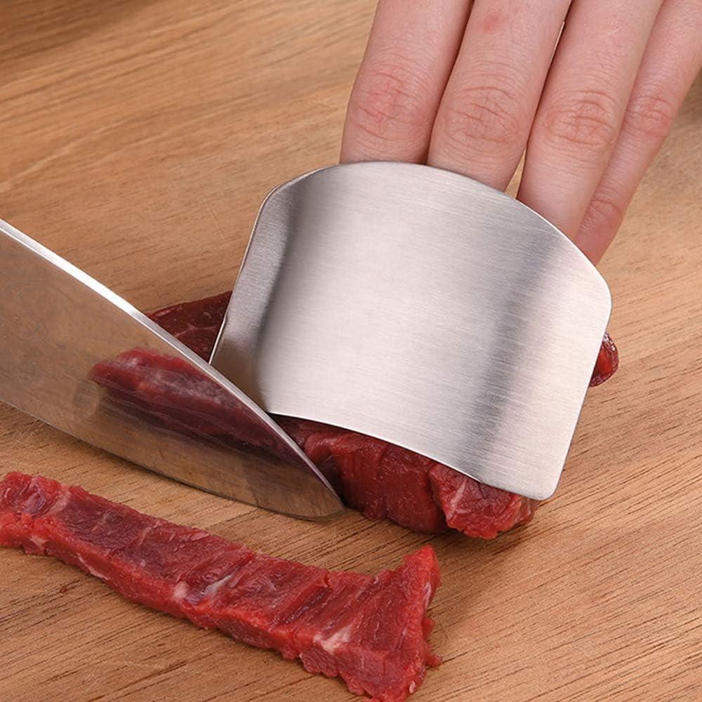 4 protectores de dedos de acero inoxidable cortes herramientas de cocina para cortar y cortar en cocinas cuchillos seguros protectores de manos para evitar da/ños