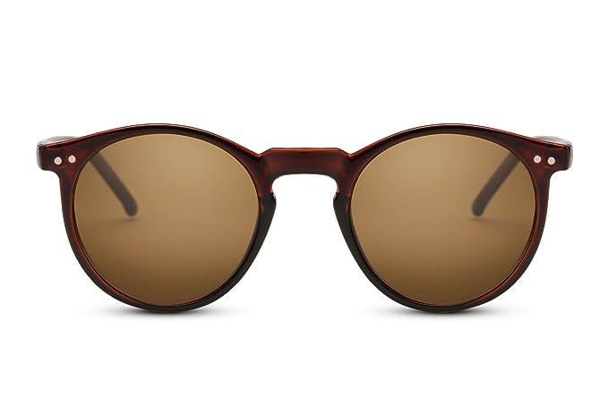 Cheapass Occhiali da Sole Unisex Rotondi Ispirati da Designer Splenditi Neri PoWoo