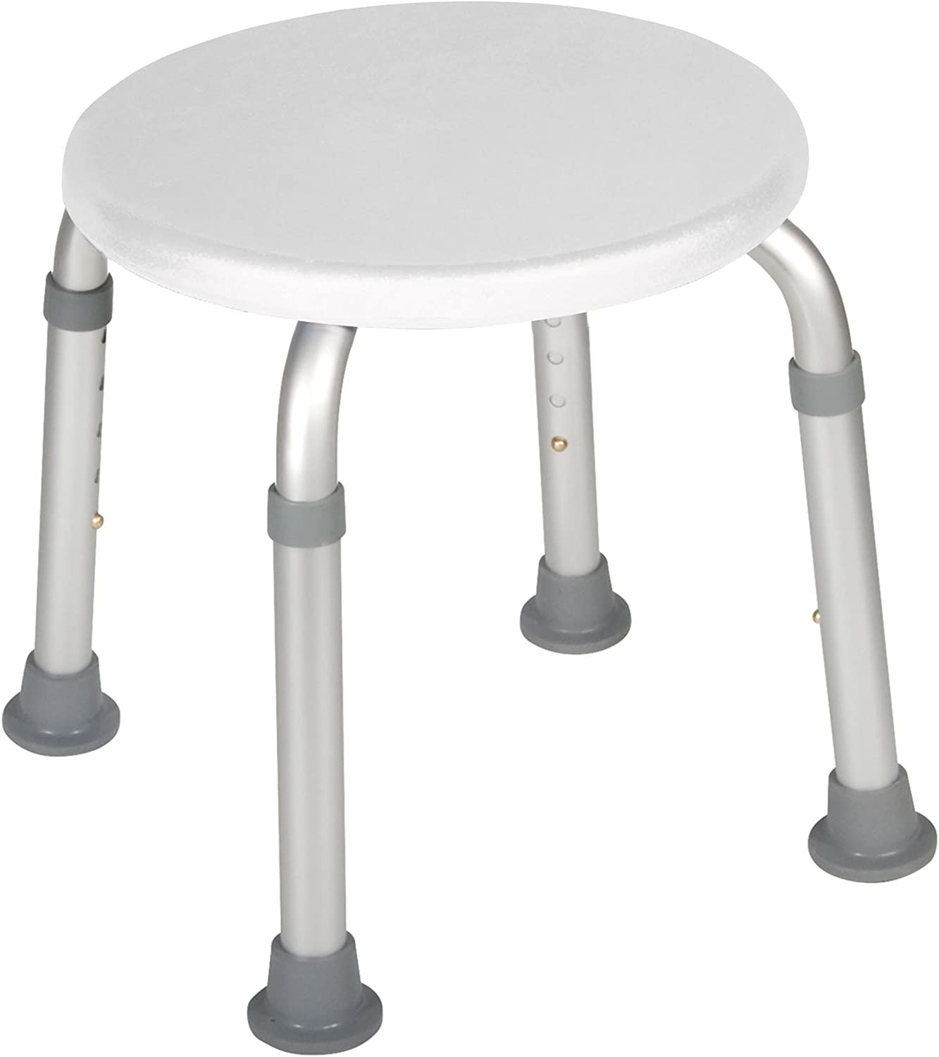 Drive Medical Adjustable Height Bath Stool, White: Health & Personal Care