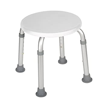 Delicieux Drive Medical Adjustable Height Bath Stool, White
