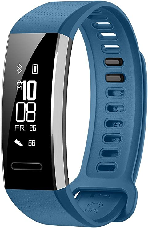 Huawei Band 2 Pro All-in-One Activity Tracker Smart Fitness Wristband | GPS | Multi-Sport Mode| Heart Rate | Sleep Monitor | 5ATM Waterproof, Blue (US ...
