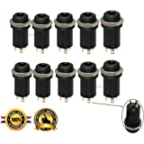 3.5MM Mini Stereo Panel Mount Jack Solder Connector - 3.5MM Headphone Audio Video Female Vertical Jack Socket Plug with NutsFull Gold-Plated High Temperature 4 Channel Pack of 10 Sold By Lsgoodcare