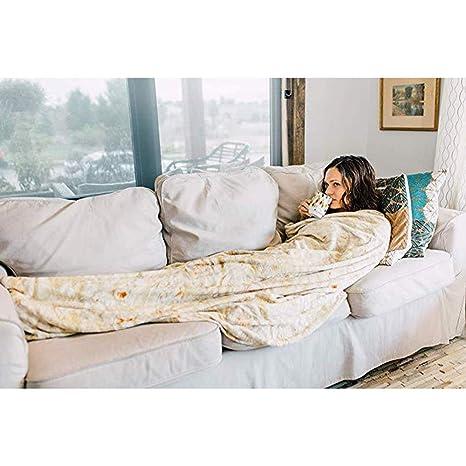 Amazon.com: HOMHOM - Manta de tortilla divertida para ...