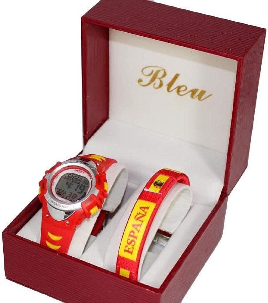 Reloj niño con Pulsera España Iniesta Supporter: Amazon.es: Relojes