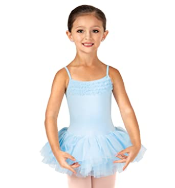 0ccce528b Amazon.com  Bloch Girl s Des Demona Tutu Comfort Leotard Dress  Clothing