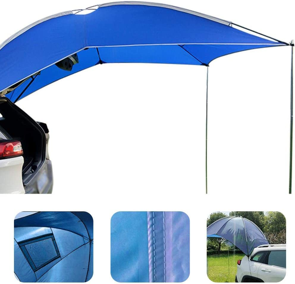 Hatchback MPV Light Weight Waterproof Auto Canopy Camper Trailer Tent Tailgate Awning Tent Roof Top For SUV Camping Sedan Outdoor Blentude Awning Sun Shelter Minivan