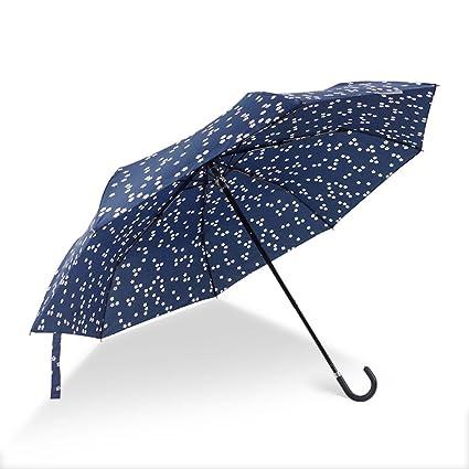 Paraguas, bloomma paraguas de jardín plegable Anti-UV y antiviento Flores para las mujeres